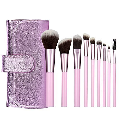 Yevita Make Up Pinsel Brushes Set Kosmetik mit Tasche Foundation Pinsel Puderpinsel...