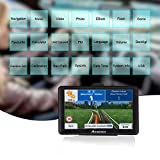SAT NAV GPS Navigation System,AONEREX 7 inch 8GB 256MB Satellite Navigator,Capacitive Touch Screen,Pre-loaded UK and EU Latest 2018 Maps Lifetime Free Updates