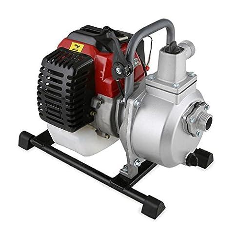 EBERTH Pompe à eau à moteur à essence pour les eaux usées (12,5 m³/h = 12.500 l/h, 1
