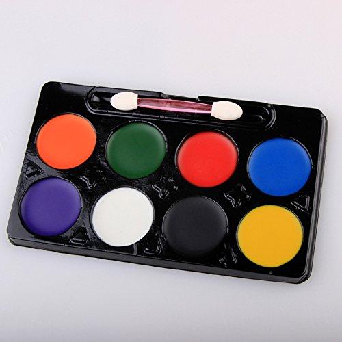 Gesicht Farbe Set 8 Farbe Runde Saugkarte Gesicht Farbe Umweltschutz Diy Körper Malerei Paste Öl Waschen Farbfilm. (50 Diy Halloween Kostüme)