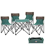 Beach Chair Set Outdoor Table And Chairs Five - Piece Folding Tables And Chairs