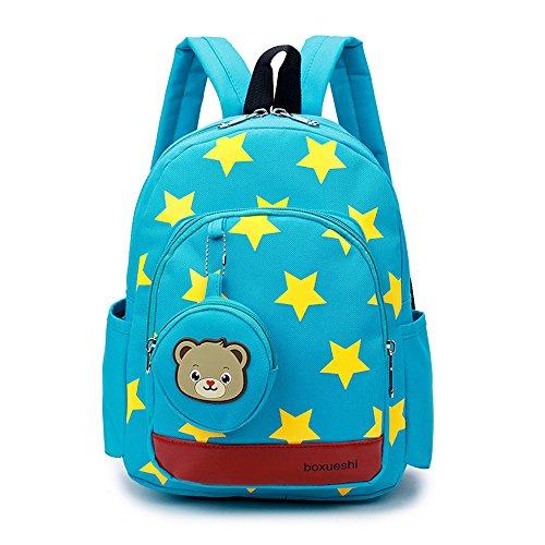 DafenQ Kindergartenrucksack Kinderrucksack Mädchen Jungen Kindergartentasche Babyrucksack Schöne Kindertasche Kindergarten Schulrucksack Kinder Schultasche Vorschulrucksack (Grün)