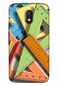Moto E3 Mobile Back Cover For Moto E3; It Is Matte glossy Thin Hard Cover Of Good Quality (3D Printed Designer Mobile Cover) By Clarks