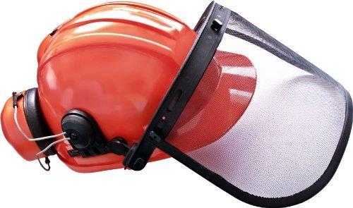 Forsthelm-Kombination orange Gesichtsschutz und Gehörschutz (Schutzkleidung, Kopfschutz)