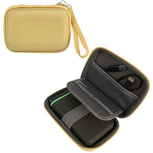 Khanka EVA Estuche Funda Bolsa Para Western Digital WD My Passport Ultra Premium/Elements, Samsung M3 Slimline, Toshiba Canvio Basics, Seagate Expansion/Backup Plus Slim,Transcend portátil Externa Disco duro 1TB 2TB USB 3.0