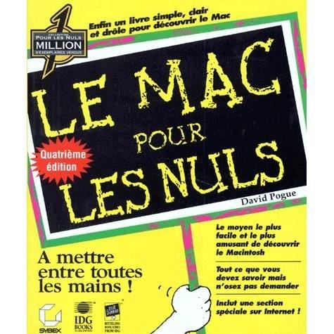 LE MAC POUR LES NULS. 4ème édition par David Pogue