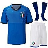 Cytech Italia Maglia da Calcio, Bambino Adulto Maschio Italia Squadra Nazionale Calcio Maglia, T-Shirt Pantaloncini Calze (Bambino/22 (125-135cm))