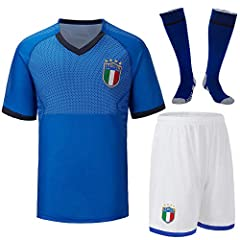Idea Regalo - Cytech Italia Maglia da Calcio, Bambino Adulto Maschio Italia Squadra Nazionale Calcio Maglia, T-Shirt Pantaloncini Calze (Bambino/20 (115-125cm))