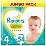 Pampers Premium Protection Windeln, Gr. 4 Maxi(9-14 kg) , Jumbopack, 1er Pack (1 x 54 Stück)