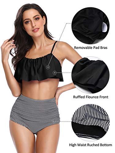 Summer Mae Damen Bikini-Set mit Volant Vintage Badeanzug - 2