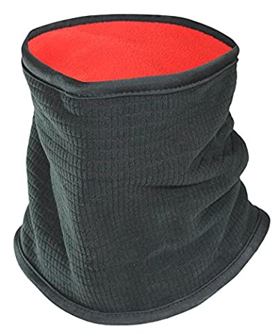 SUB Sports Thermal Neck Warmer / Winter Fleece Snood - BLACK (Red Inner) -OS