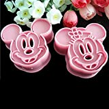 Mickey et Minnie Mouse Cartoon Fondant Gâteau Cookie Cutter moule rose DIY Sugarcraft