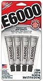 Eclectic, E6000,adesivo multiuso 4 pezzi da 5,3 cl, trasparente
