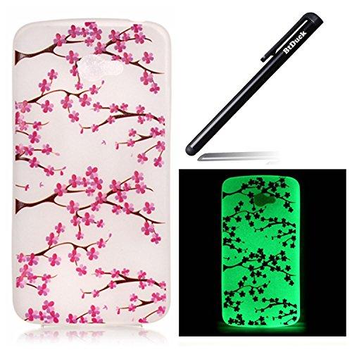 btduck-coque-de-protection-housse-etui-pour-lg-k5-flip-case-cover-lumineux-prune-fleur-fleurs-motif-