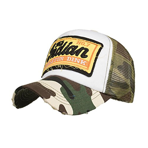 UFACE Stickerei Net Cap Baseballmütze Sonnenhut Sommer Cap Mesh Hüte für Männer Frauen Casual Hüte Hip Hop Baseball Caps (Armeegrün)