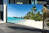 Seitenmarkise mit Fotodruck Südsee 160 x 300 cm LINKS Sichtschutz Windschutz NEU