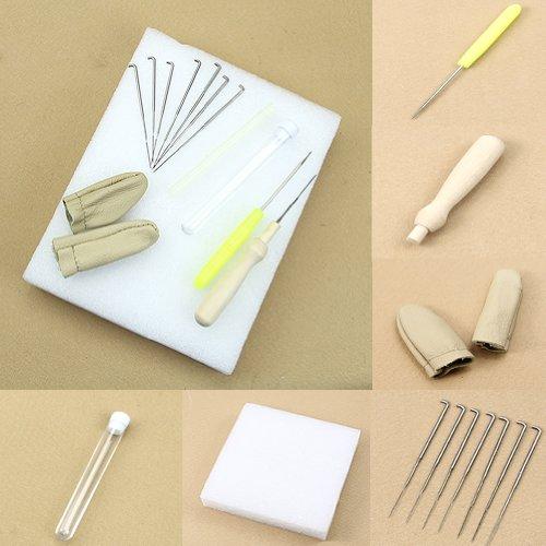 ECMQS 1 Jeu Feutrage à L'aiguille Kit De Démarrage Feutre De Laine Outils Mat + Accessoires Artisanat + Aiguill