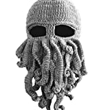 5Five Tentacle Octopus Cthulhu Bonnet en tricot coupe-vent Barbe Masque de ski Chapeau