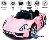 Babycoches - Coche eléctrico para niños 918 Spyder, con Mando a Distancia para Control Parental, 12V, Color Rosa
