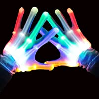 Easony Party Favors Cool Autistic Toys for 3-12 Year Old Boys Girls, LED Flashing Gloves New Birthday Presents Gifts for 3-12 Year Old Girls Boys ESUKST06