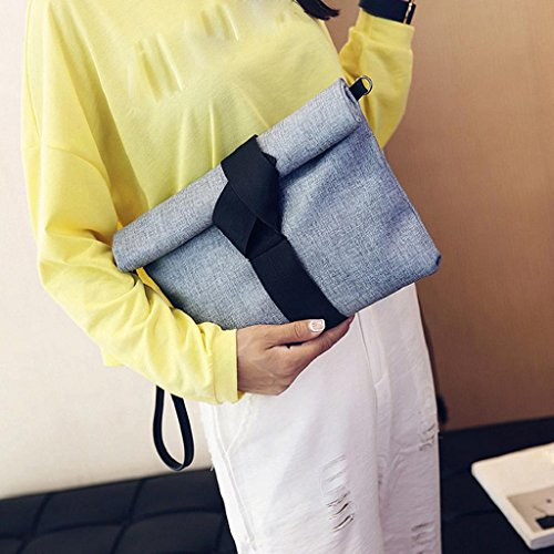 2017 Borse donna,Kangrunmy Panno Donne modello Borse Frizioni Messenger Bag partito Shoulder Bags Blu