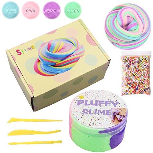 BESTZY Slime Fluffy Foam Clay - 4 Colores Arcilla