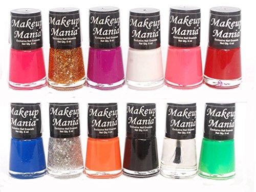 Makeup Mania Exclusive Nail Polish Set of 12 Pcs (Multicolor Set # 73)