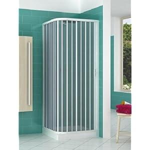 Cabina de ducha de PVC extensible con dos lados dos puertas lado 90/100