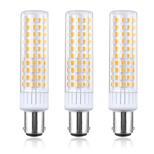 Bonlux Ba15d LED Lampe Birne 8W 220V Warmweiß 3000K 360 Lichtstrahwinkel Equivalent zu 80-100W Halogenbirne Doppelkontakt Bajonett Sockel (3-Stück, Nicht Dimmbar) (Bajonett-sockel)