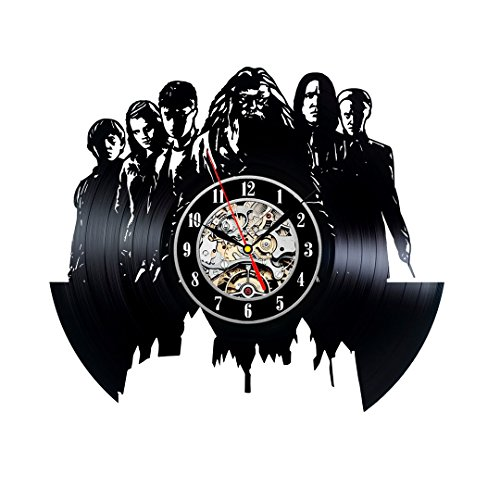 Harry Potter Weinlese-Vinyl Clock Schlafzimmer-Wand-Dekor-Geschenk