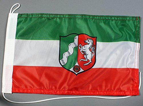 Buddel-Bini Bootsflagge Nordrhein Westfalen 20 x 30 cm in Profiqualität Flagge Motorradflagge