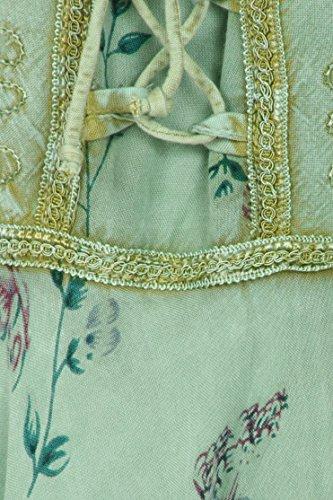 Sakkas Fairy Maiden Abito stile corsetto menta verde