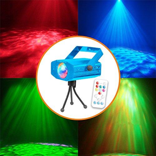 Disco Licht Beleuchtung,tronisky Sprachaktiviertes Discokugel Lampe Partylicht Discolicht Beleuchtung Projektor Bühne Licht für Halloween, Partei, Xmas, Club, Karaoke, Bühne, Tanzfläche - blau