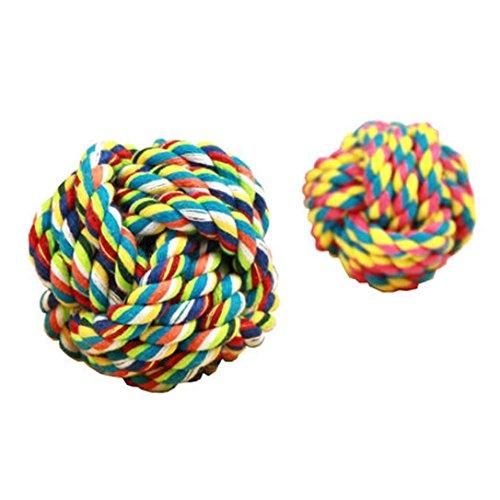 WSS Palla di cane dentizione giocattolo giocattolo palla cotone corda nodo palla-mordace cane dente-antigiro . m - Singola Corda Di Cotone
