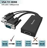 VGA zu HDMI Adapter (Alter PC zu neuem Fernsehapparat/zu Monitoren), FOINNEX VGA zu HDMI Konverter mit 3.5mm Minibuchse für PC, Laptop mit VGA Ausgang zu Monitor, Fernsehapparat mit Einem Weiblichen