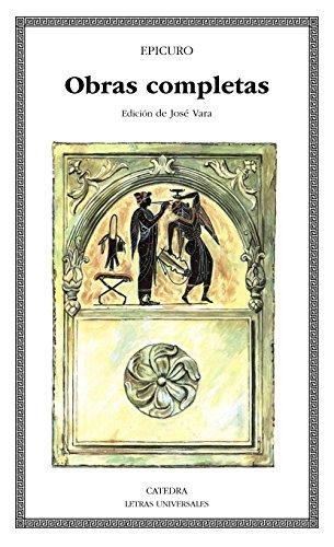 Obras completas (Letras Universales) por Epicuro