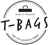Original ♡ T-BAGS Thailand Turnbeutel Hipster | 18 coole Designs | mit Reißverschluss | Baumwoll Beutel mit hohem Tragekomfort (Grau) -