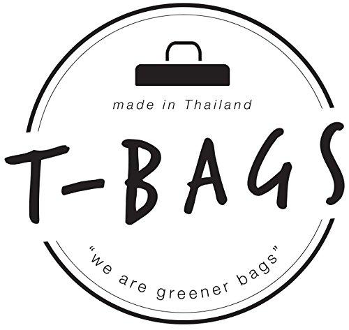 Original ♡ T-BAGS Thailand Turnbeutel Hipster | 18 coole Designs | mit Reißverschluss | Baumwoll Beutel mit hohem Tragekomfort (Grau) - 7