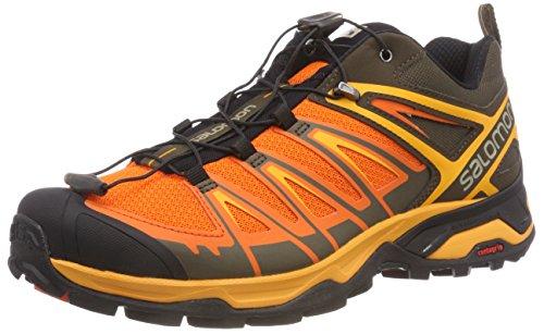 Salomon X Ultra 3, Zapatillas de Senderismo Para Hombre, Gris (WREN/Scarlet Ibis/Bright Marigold 000), 42 EU