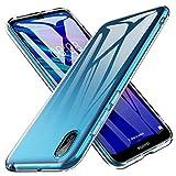 iBetter Coque pour Huawei Y5 2019, Soft Premium TPU Transparent, Anti-Slip, Résistant aux Rayures, pour Huawei Y5 2019/Honor 8S Smartphone.Transparent