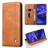 Mate20 Lite Handyhülle Huawei Mate 20 Lite Hülle Case Business PU Leder Tasche Flipcase Cover Silikon Schutzhülle Handytasche