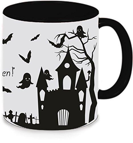 Livingstyle & Wanddesign Tasse Trinkbecher Kaffeetasse Teetasse Halloween Happy Halloween (Motiv 6, ()