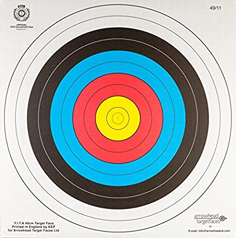 80CM HEAVY DUTY FITA APPROVED ARCHERY PAPER TARGETS X20 + 4 TARGET PINS