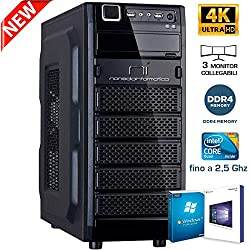 PC DESKTOP CON LICENZA WINDOWS 10 pro oppure Windows 7 pro Talloncino con seriale a vostra scelta INTEL QUAD CORE RAM 8GB HD1TB DVD/WIFI/HDMI FISSO COMPLETO ASSEMBLATO