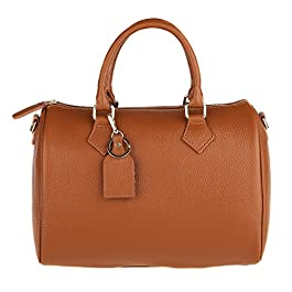 fd7a82421f Chicca Borse Handbag Bauletto Borsa a Mano da Donna con Tracolla in Vera  Pelle Made in ...