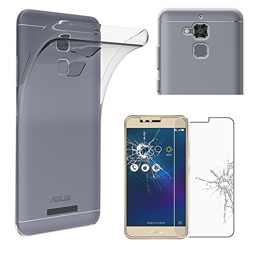 ebestStar - Asus Zenfone 3 Max Hülle ZC520TL Handyhülle [Ultra Dünn], Premium Durchsichtige Klar TPU Schutzhülle, Soft Flex Silikon, Transparent +Panzerglas Schutzfolie [Phone: 149.5x73.7x8.6mm 5.2