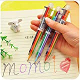 #3: KABEER ART 8 In 1 , 0.7mm Color Ball Point Pen With Transparent Body