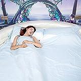 X-loves Saco de dormir,fácil de llevar y limpiar,sábana con cierre,funda de viaje,para viaje y camping de verano