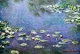 Poster 'Wasserlilien', von Claude Monet, Größe: 91 x 61 cm