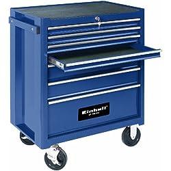 Einhell Servante d'atelier BT-TW 150 (Capacité de charge : 150 kg, 7 tiroirs sur glissières à billes, Hauteur des tiroirs : 4x45 mm / 2x100mm / 1x200 mm)